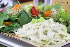 Enjoy this cashew-based raw alfredo sauce with zucchini or kelp noodles. A perfect satisfying raw meal when served with a large green salad. A blender is required.