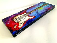 Original gift for musician Guitar painting by MagierFineArt