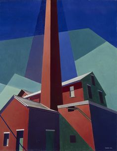 From 'Industrial Strength: Selections from the Collection': Charles Sheeler, Ballardvale, 1946, oil on canvas, 24 x 19 in., museum purchase, 1947.21