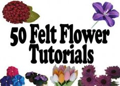 50+ Free Felt Flowers Tutorials | AllCrafts.net Free Crafts Update Blog