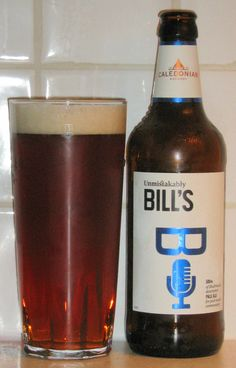 """Bill's Beer from Caledonian Brewery. Reddy-brown in colour and maltier than you might expect for a """"pale ale"""". Nicely drinkable but not a prize winner. British Beer, Beer 101, Beers Of The World, Message In A Bottle, Brewery, Beer Bottle, Alcohol, Colour, Canning"""