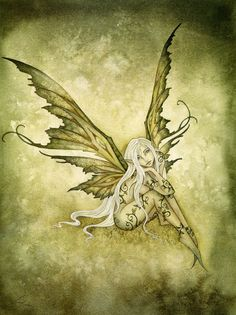 Amy Brown : Green Sprite                              my favorite faery that she ever painted