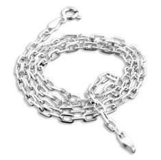 New Gentle Men Trendy Simple Design Silver Link Chain Necklace Charming Men Gift Nice Sterling Hot Sale Necklaces & Pendants Chain Necklaces