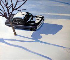 """Jessica Brilli  Nova in the Snow  20""""x24""""  Oil on Canvas  2015"""