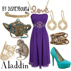 ~ Aladdin Disneybound ~ Wearable at Disneyland. Replace with a Comfortable flowly maxi dress and sandals for a boho indie look that's perfect for Adventureland