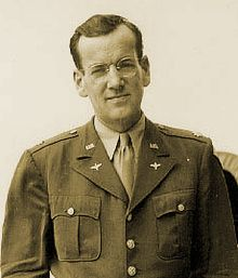 Captain Glenn Miller, Army Air force.  Led a 50-piece Army Air Force Band, which gave 800 performances in England in the summer of 1944.