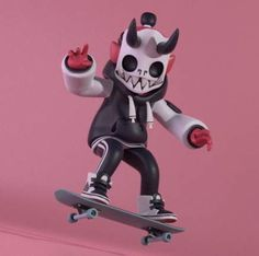 """Chris """"Dokebi"""" Sammons - Finished up my Skaterboy Dokebi! Now trying to figure out . 3d Character, Character Concept, Concept Art, Character Design, Vinyl Toys, Vinyl Art, Doodle Art, 3d Figures, Found Object Art"""