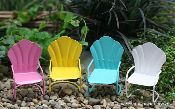 Tiny vintage-style beach chairs