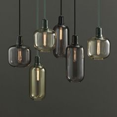 The Normann Copenhagen Amp Lamp is a pendant light with a nostalgic yet contemporary feel. Industrial Style Lamps, Retro Lampe, Small Lamps, Kitchen Lamps, Farmhouse Lighting, Mason Jar Lamp, Pendant Lighting, Pendant Lamps, Ceiling Pendant