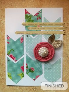 Repeating shapes cardmaking tutorial