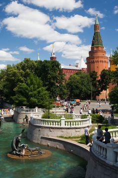 Alexander Gardens by the Kremlin Wall, named after Russia's Emperor Alexander.