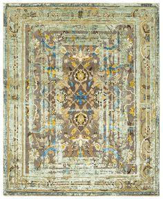 Jan Kath, Classical Elements, Silk Material, Red Silk, Arabesque, Minimalist Design, Brown And Grey, Bohemian Rug, Oriental