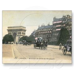 Avenue du Bois de Boulogne, Paris Vintage Postcard from my store @Zazzle.com $1.95