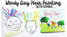 Crazy weather may keep us inside, but is great inspiration for reading about the wind and then creating some windy day hair paintings with straws. Hair Painting, Painting For Kids, Art For Kids, Blow Paint, Paint Drop, Preschool Projects, Preschool Crafts, Crazy Hair For Kids, Hair Colors