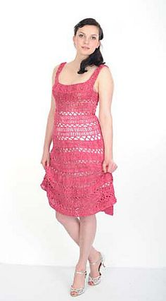 Ravelry: Bette Hairpin Gown pattern by Claire Montgomerie, Hairpin Lace Crochet
