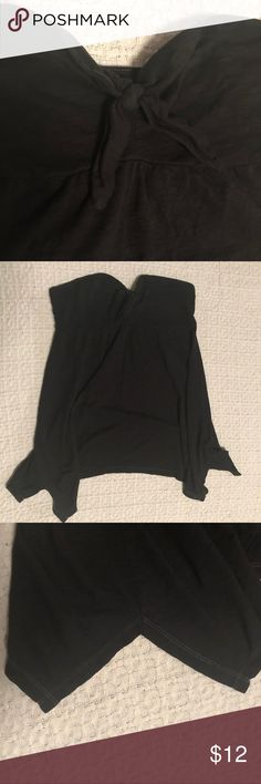 """American Eagle strapless black flowy top 60% cotton 40% modal Bust 15.5"""" flat unstretched  Length 22"""" front American Eagle Outfitters Tops"""