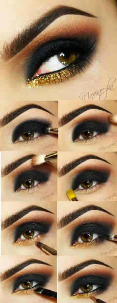 Smokey Make-up Ideas with Glitter by Trends Style