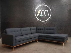 Mid Century Modern Sectional Chaise Sofa custom by TDFurniture ...