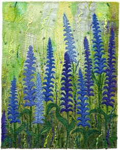 Blue Garden 1 by Kirsten's Fabric Art, via Flickr