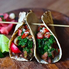 Grilled Steak Tacos with Cilantro Chimichurri Sauce | 21 Mouthwatering Taco Recipes You Need To Try