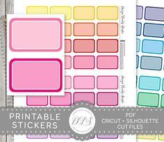 Printable Half Box Planner Stickers Half Box Printables - Design Lovely Studio #plannerstickers #printable #functional #downloadable