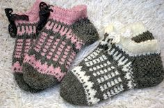 Knitted Slippers, Slipper Socks, Crochet Slippers, Knit Crochet, Knit Wrap, Knitting Socks, Sock Shoes, Mittens, Needlework