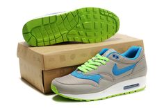 2284 Nike Air Max 87 Shoes Mens Gray Blue Green For Sale 67272