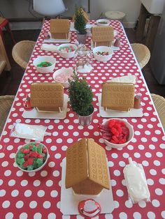 gingerbread party-- Chloes 6th Bday..
