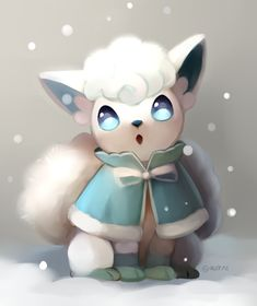 Eeveelution Fan: Photo Alolan vulpix has always been one of my favorite pokemon from sun and moon I love ice pokemon, and the colors of this snowy fan art are just amazing The post Eeveelution Fan: Photo appeared first on Poke Ball. Chibi Pokemon, Ninetales Pokemon, Alolan Vulpix, Pokemon Memes, Pokemon Fan Art, All Pokemon, All Eeveelutions, Pikachu Pikachu, Bulbasaur