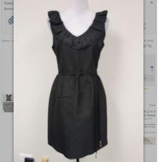 ♠️ Kate Spade LBD♠️ Gently used Kate Spade black dress with ruffled V neck styling.. Zip back. No pockets. Corded belt. NO TRADES kate spade Dresses Midi