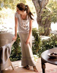 Linen Maxi Skirt ... subtle and elegant