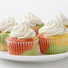 TIE-DYE FRUITY CUPCAKES @keyingredient #cake