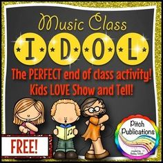 This Music Show and Tell is so cute and it is FREE! I love her store! #elmused teaching elementary music education