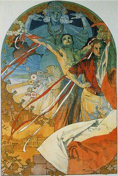 8th Sokol Festival by Alphonse Mucha