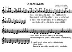 Kliknutím zavřít Sheet Music, Diy And Crafts, Poems, Preschool, Education, Children, Kids, Preschools, Kid Garden