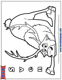 sven the reindeer coloring pages - Google Search