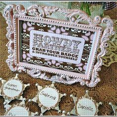 Cowgirl bachlorette name tags
