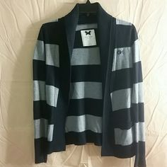 Gilly Hicks blue & gray striped cardigan Gilly Hicks blue & gray striped cardigan, size XS. Runs a little big Gilly Hicks Sweaters Cardigans