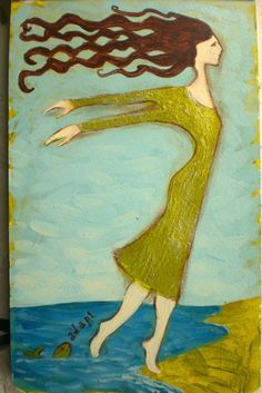 Flying Girl Adapts to New Worlds or Fish Lessons by rowena murillo,