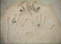 Handprints Bride & Groom with rings. #DestinationWedding