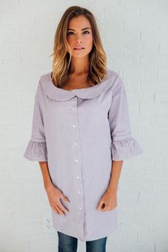 Marlee Blouse in Purple | Clad & Cloth Apparel