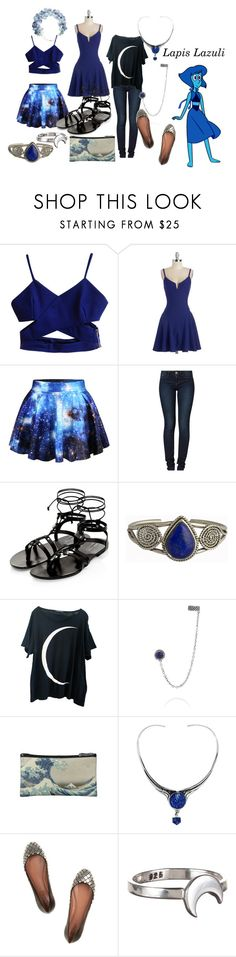 """Lapis Lazuli (Steven Universe)"" by katwolf135 ❤ liked on Polyvore featuring Desigual, Wildfox, Pamela Love, MANIAMANIA, Alaïa and Grace + Scarper"