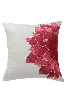 Sewing Pillows Blissliving Home 'Dahlia' Pillow available at Sewing Pillows, Diy Pillows, Decorative Pillows, Throw Pillows, Cushion Cover Designs, Cushion Covers, Pillow Covers, Hand Embroidery, Embroidery Designs