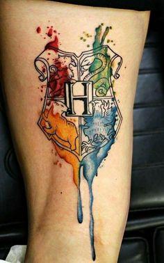 50 insanely crazy Harry Potter tattoos that really inspire . - 50 insanely crazy Harry Potter tattoos that really inspire inspire - Mini Tattoos, Body Art Tattoos, Tatoos, Crazy Tattoos, Sleeve Tattoos, Insane Tattoos, Geek Tattoos, Harry Potter Art, Harry Potter Fandom