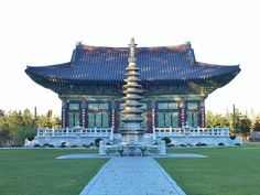 Seokwang-sa, a Korean Buddhist Temple in Surrey, BC Religious Architecture, Buddhist Temple, Burj Khalifa, Surrey, British Columbia, Mansions, House Styles, Buildings, Korean