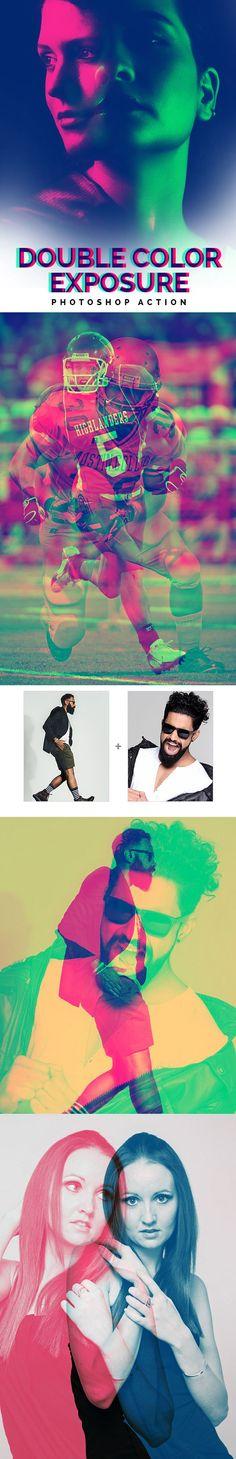 Color Double Exposure Photoshop Action #digitalphotography #photoeffect #photoshopactions #tutorials
