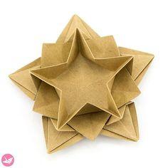 Origami Star Bowl Tutorial (Masoud Hosseini) via Origami Paper Folding, Origami Star Box, Modular Origami, Origami Stars, Origami Easy, Origami Flowers, Origami Bird, Origami Design, Origami Instructions