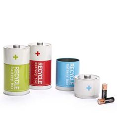 2 Level Tin Recycle Battery Box Container