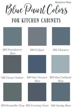 Blue Cabinet Paint Colors:Our Kitchen Makeover Pretty Blue Paint Shades for Kitchen and Bathroom Cabinets. Use these picks as inspiration to use in your own home! Kitchen Cabinets In Bathroom, Painting Kitchen Cabinets, Kitchen Cabinet Design, Blue Gray Kitchen Cabinets, Kitchen Taps, Kitchen Cabinet Color Schemes, Best Kitchen Cabinet Paint, Blue Kitchen Island, Interior Design Trends