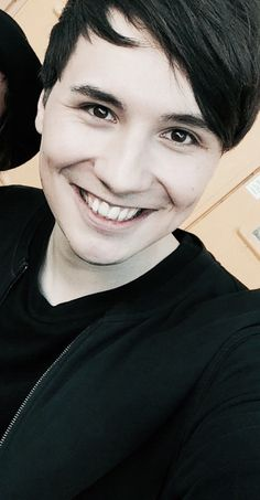 Excuse me while I fling myself off a cliff. Phan Is Real, Big Blue Eyes, Danisnotonfire And Amazingphil, Phil Lester, Dan Howell, Dan And Phil, Make Me Smile, Youtubers, Black Hair